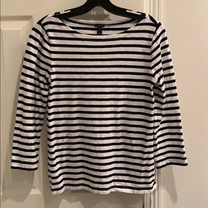 Navy and white striped Jcrew long sleeve XS